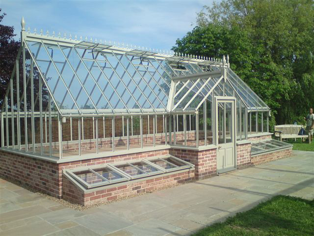 Steel victorian greenhouse gallery for Build a victorian greenhouse