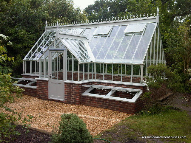 Steel victorian greenhouse gallery for Victorian style greenhouse