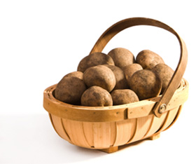 Potatoes in Trug
