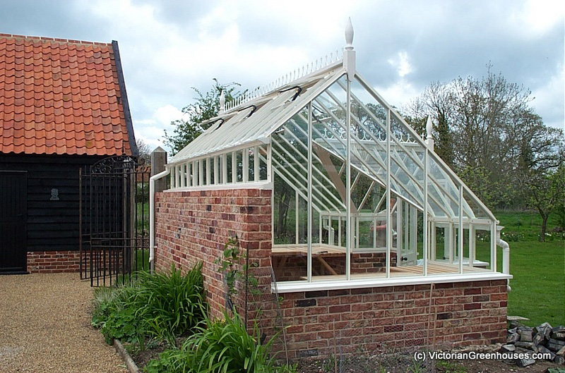 3 4 span victorian greenhouses for Victorian style greenhouse