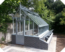 Steel Greenhouse on Timber Base